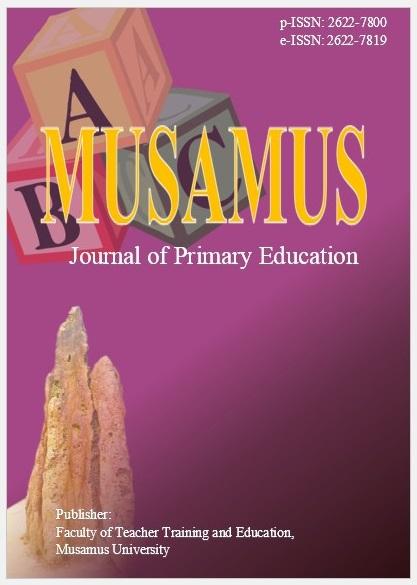 Musamus Journal of Primary Education Vol 3 No 2 (April, 2021)